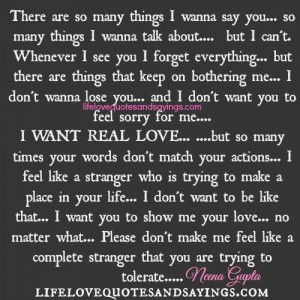 Want Real Love..