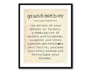 Grandmother Art Work Inspirational Quotes