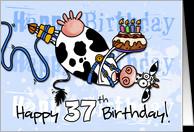 37th Birthday Cards