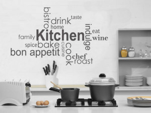 kitchen vinyl words wall quotes