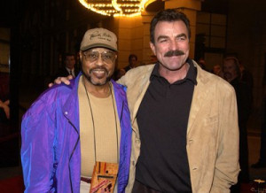 Tom Selleck and Roger E. Mosley at event of Monte Walsh (2003)
