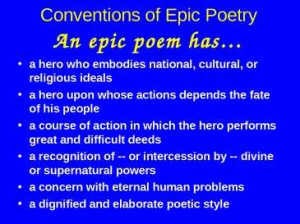 Epic Poem The Odyssey Conventions of epic poetry
