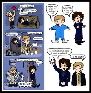 Sherlock doodles: A Funny Pair by blackbirdrose