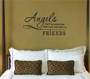 Angels-Cant-Be-Everywhere-Wall-Sticker-Inspirational-Vinyl-Quote-Room ...