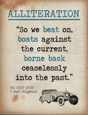 Alliteration (Quote from The Great Gatsby by F. Scott Fitzgerald ...