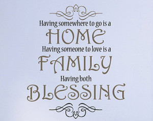Home family blessing Wall Decal | F amily Christian Wall Decal ...