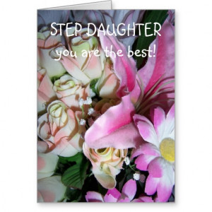 Happy Birthday Card For A Step Daughter Flowers