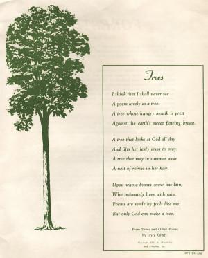 Joyce Kilmer's immortal poem