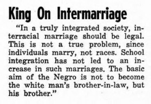 Dr. Martin Luther King On Intermarriages.....