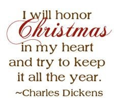 Scrooge's declaration from Charles Dickens's