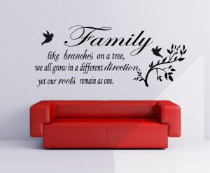 Family Like Branches Quote..Vinyl Wall Art Sticker Decal