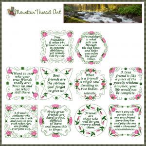 Home :: Quote Sets :: Wild Irish Rose Friendship Quotes 'N Quilt Block ...