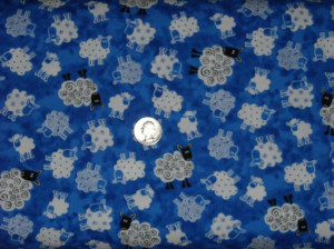 Products / Counting Sheep - Blank Quilting (lambs on blue background)