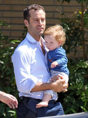 Benjamin Millepied and baby boy Aleph
