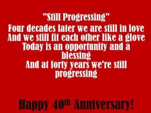 40th Anniversary Poems