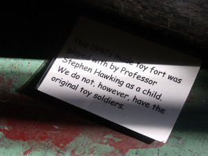 This 1940's made toy fort was played with by professor Stephen ...