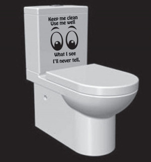 an element of fun and interest to a washroom with this humorous wall ...