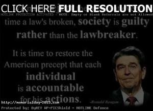 Memorial Day Quotes Of Ronald Reagan