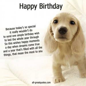 Happy Birthday Cute Puppy