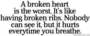 broken heart is the worst