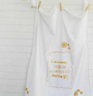 INSPIRATIONAL Quote Flour Sack Tea Towel Large by ArtThatMoves, $18.00
