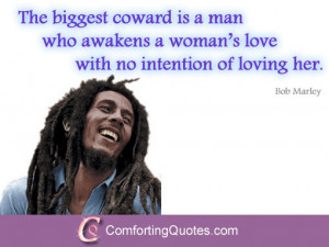 Bob Marley Quote about Loving a Woman