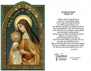 Holy Card St. Clare of Assisi