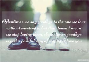 Oftentimes We Say Goodbye