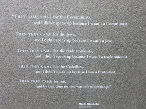 Famous Holocaust Quotes Holocaust memorial engraving