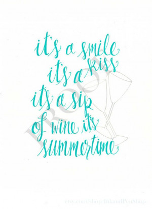 Kenny Chesney Summertime quote 8 x 10 inches by InkandPenShop, $16.00
