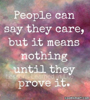 Care Quotes, Sayings about caring