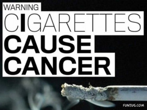Warning Cigarettes Cause Cancer Smoking Quote
