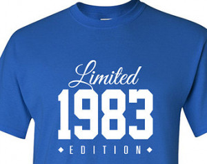 1983 Limited Edition 2015 32nd Birthday Party Shirt, 32 years old ...