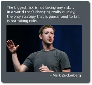Mark Zuckerberg on risk