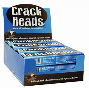 Crackheads Chocolate Coffee Beans taste as good as they look!