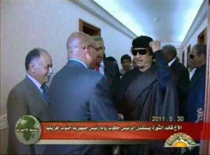 Gaddafi is emphatic I will not leave Libya