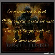 Lyric Art of Perfect Insanity by Disturbed More