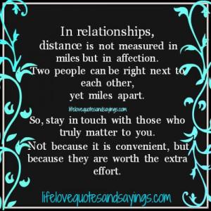 Miles Apart Love Quotes