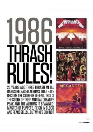metallica Megadeth Slayer anthrax thrash