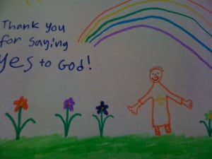... cute picture that 7-year old Princess drew for our Parish Priest