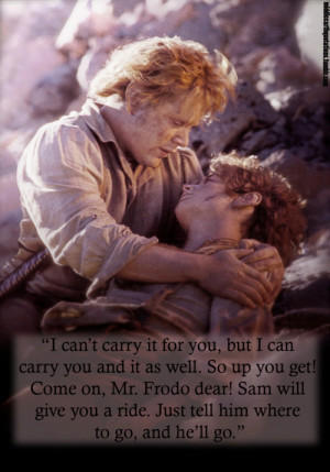 Sam to Frodo, The Return of the King, Book VI, Mount Doom