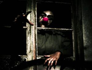 Scary Clown Clawing Window