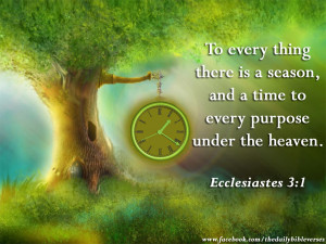 ... thing there is a season, and a time to every purpose under the heaven