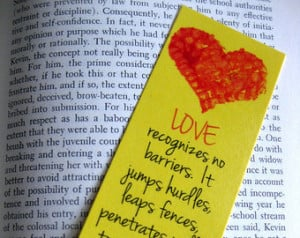 Love Bookmark, Red and Yellow, Hear t, Maya Angelou Quote - Multiples ...