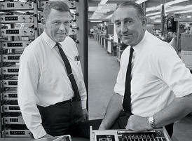 Bill and Dave in their prime - posing on a production line