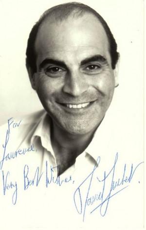 David Suchet 5 5x3 5 signed photograph