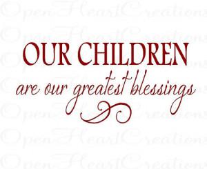 ... Blessings - Inspirational Christian Vinyl Wall Decal 12H X 22W QT0167