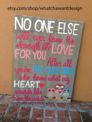 Custom HandPainted sweet quote for baby by WhatchawantDesign, $105.00