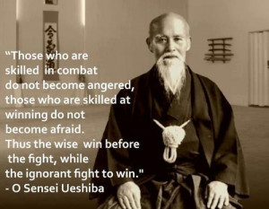 ... wise win before the fight, while the ignorant fight to win.