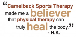 ... | Phoenix physical therapy rehabilitation | Camelback Sports Therapy